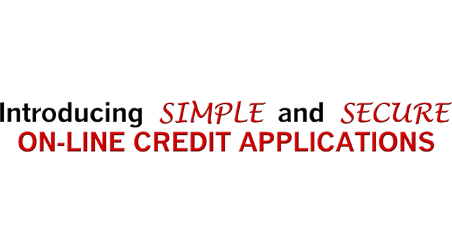 Introducing SIMPLE and SECURE ON-LINE CREDIT APPLICATIONS